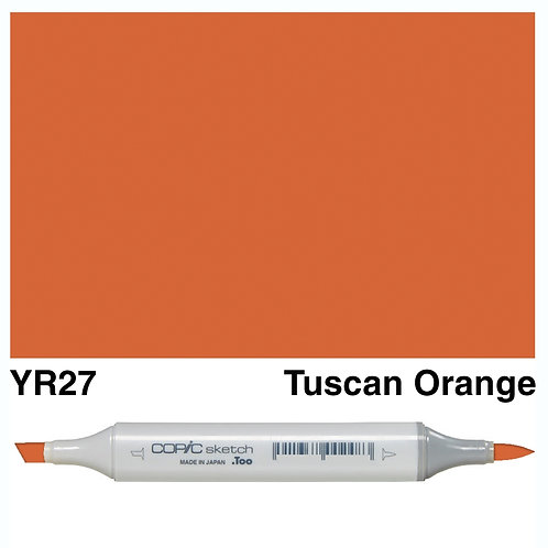 Copic Sketch Marker - YR27 Tuscan Orange