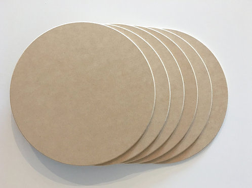 Round MDF Placemats (Set of 6)