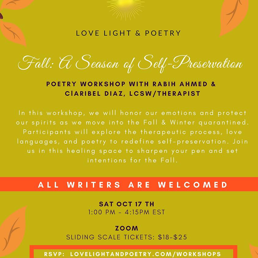 Fall: A Season of Self-Preservation Poetry Workshop