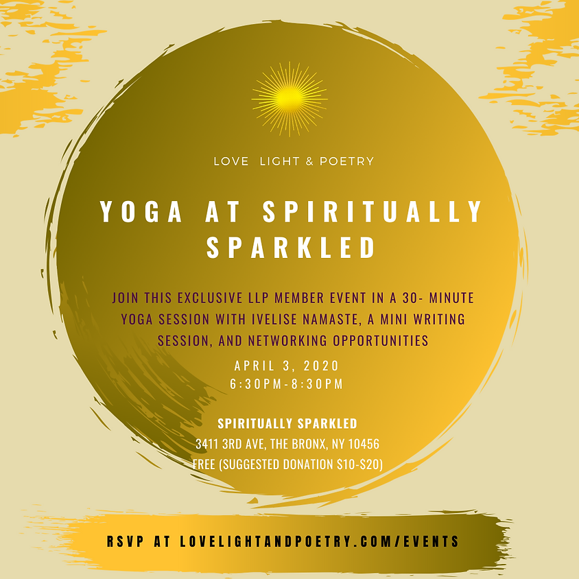 LLP Members ONLY Event: Yoga at Spiritually Sparkled