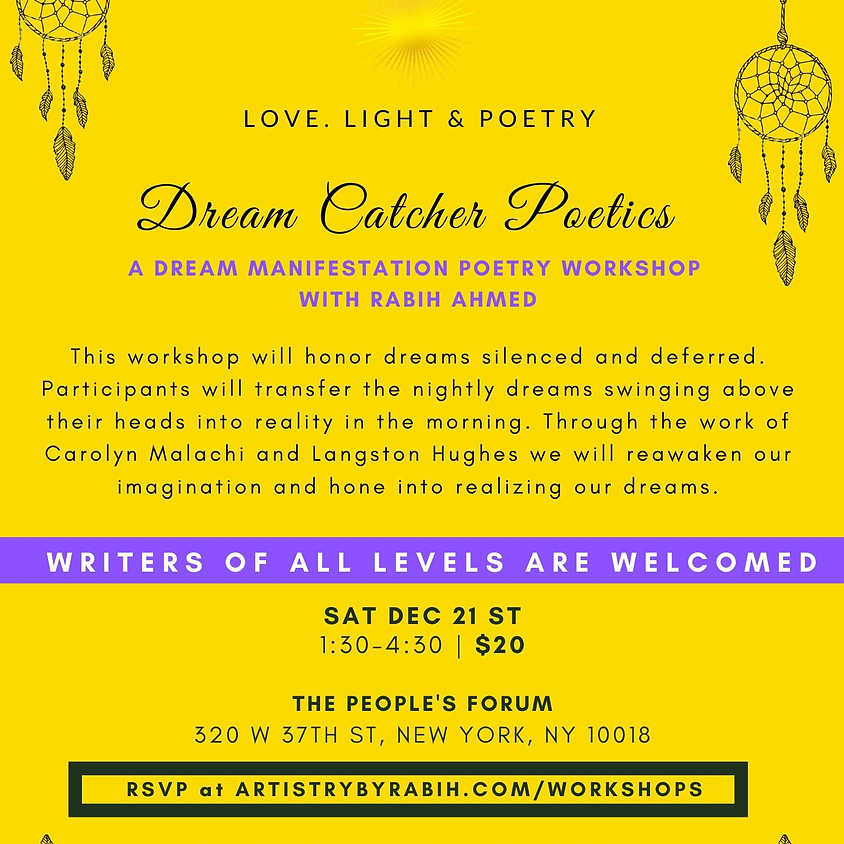 Dream Catcher Poetics: Dream Manifestation Poetry Workshop