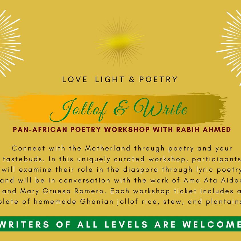 Jollof & Write: A Pan-African Poetry Workshop