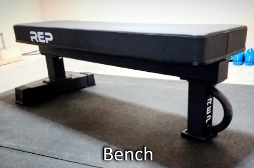 Rep Fitness Flat Bench With Wide Pad