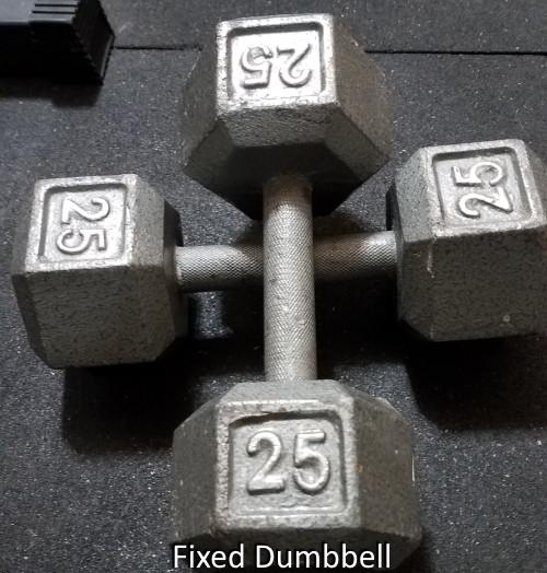 Iron Dumbbell (Fixed Style)
