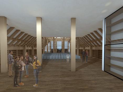 Revitalisierung und Transformation eines Landwirtschaftsgebäudes in ein Landwirtschaftszentrum, Poiseux FR