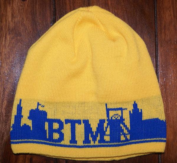 czapka BTM żółto-niebieska