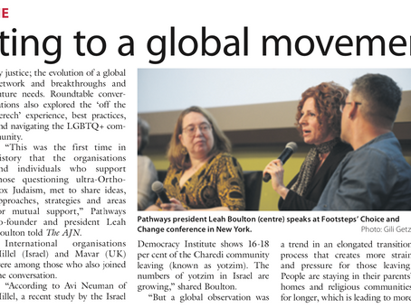 Contributing to a global movement - The Australian Jewish News