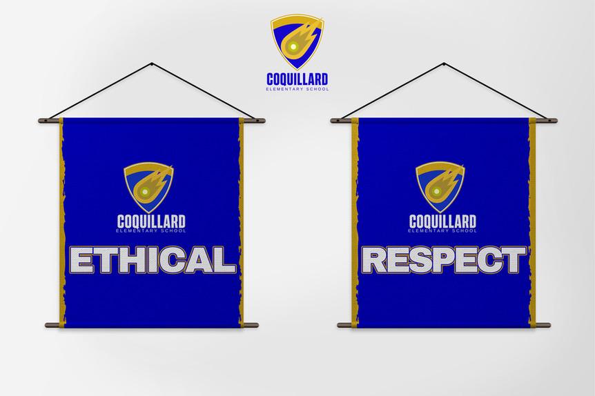 Coquillard School Banners
