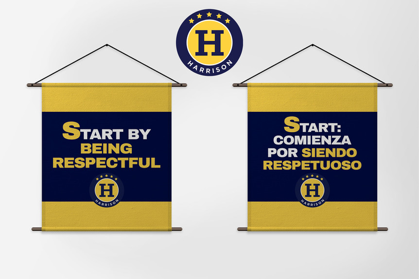 Harrison School Banners