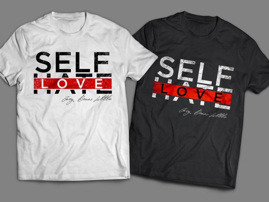 Self Love T-shirt Mockup & Design