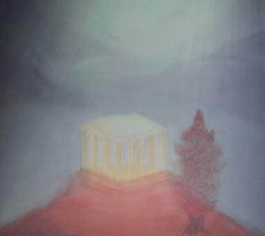 Der Tempel - Ein Aquarellbild von Christopher Baumann