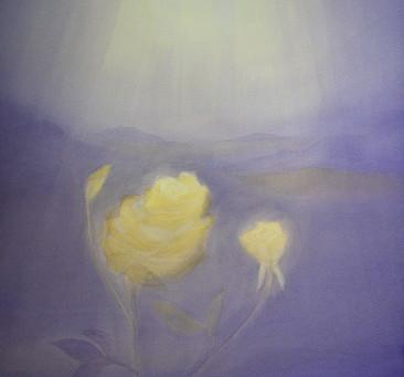 Gelbe Rose - Ein Aquarellbild von Christopher Baumann