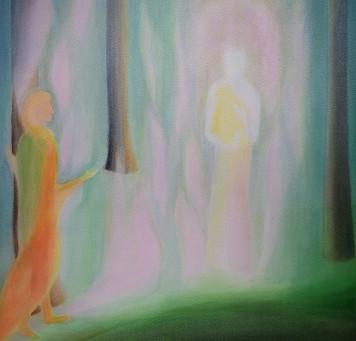 Maria und er Auferstandene