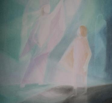Lazarus - Ein Aquarellbild von Christopher Baumann