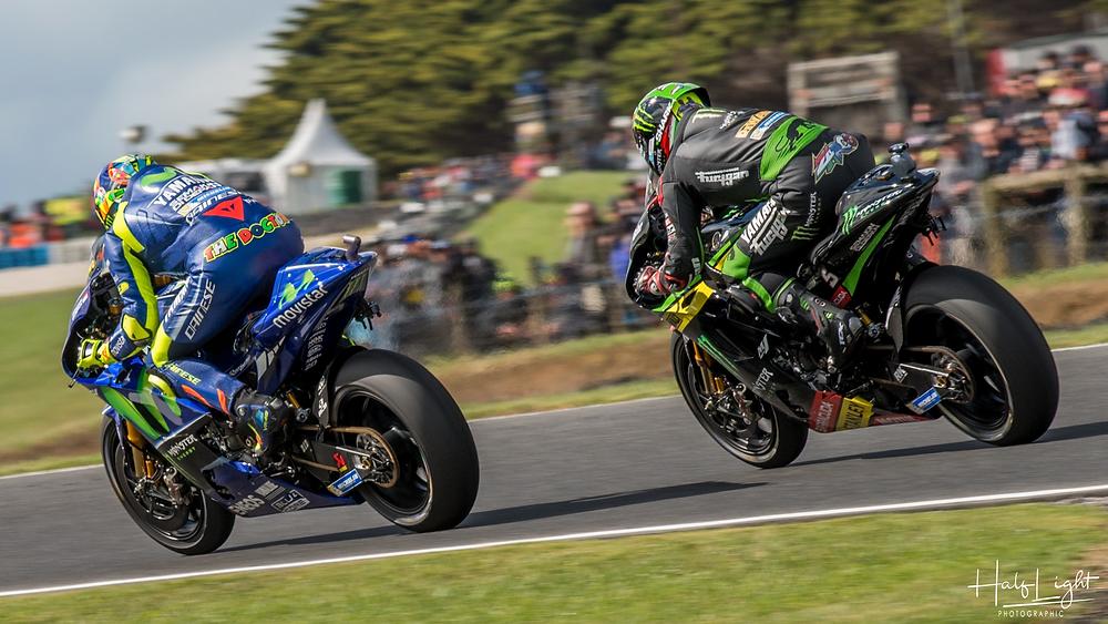 Rossi and Zarco duke it out...
