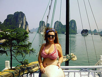 Touring Halong Bay,Vietnam by boat