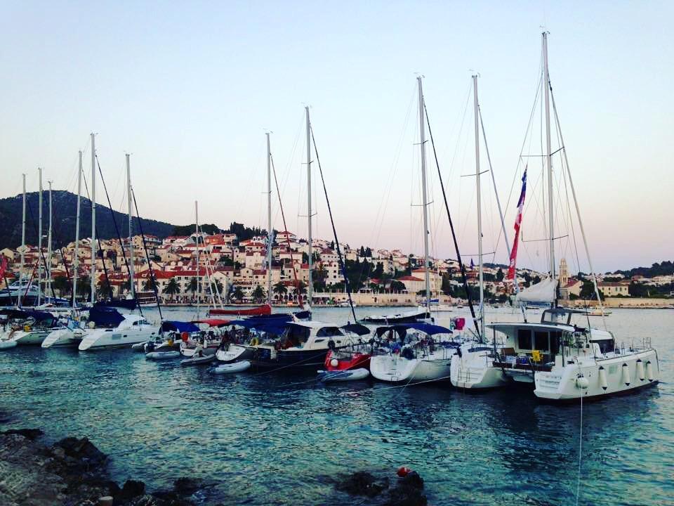 After sunset on the island Hvar, Croatia