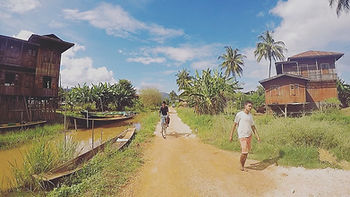 Last stretch of the trek in Myanmar