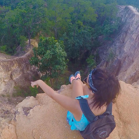 On the edge! Pai Canyon, Thailand.