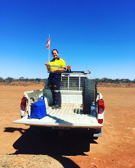 Working in the outback, Western Australia