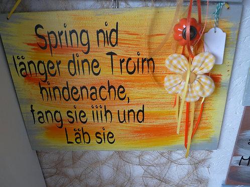 Deko Tür Eingangstafel bemalt, dekoriert und beschriftet mit coolen Sprüchen
