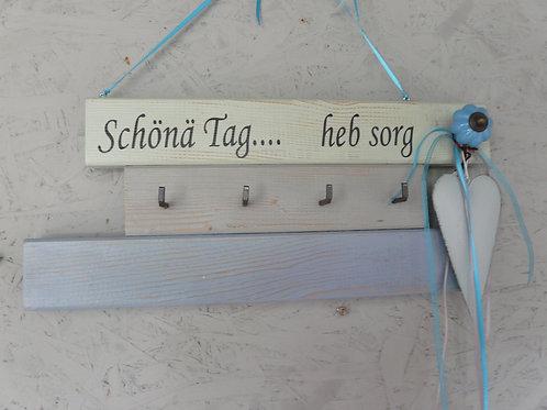 Garderobe Schlüsselbrett aus Holz mit Beschriftung