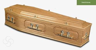 BUCKINGHAM Traditional Coffin Light Oak.