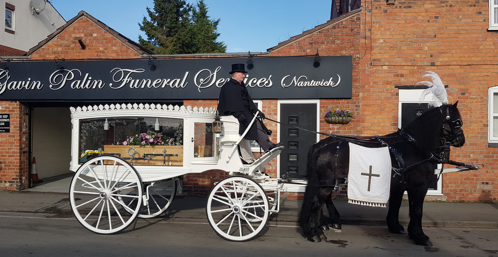 Funeral of the late Jane Wright - Horse Drawn