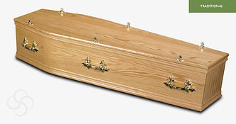 KENSINGTON Traditional Coffin Light Oak.