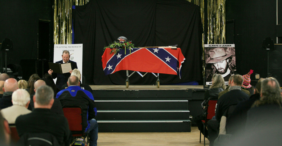 Funeral of the late Dave Peever The Service