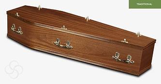 LINCOLN Traditional Coffin Light Mahogan