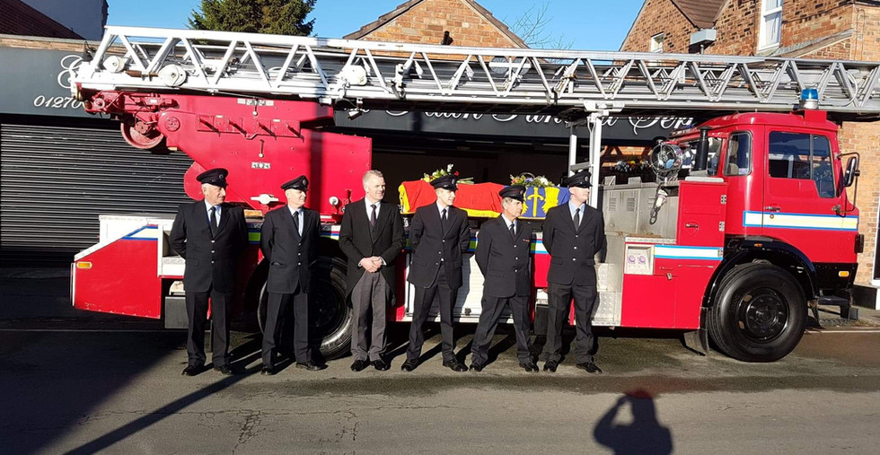 Funeral of the late Chris Greatorex (Ret
