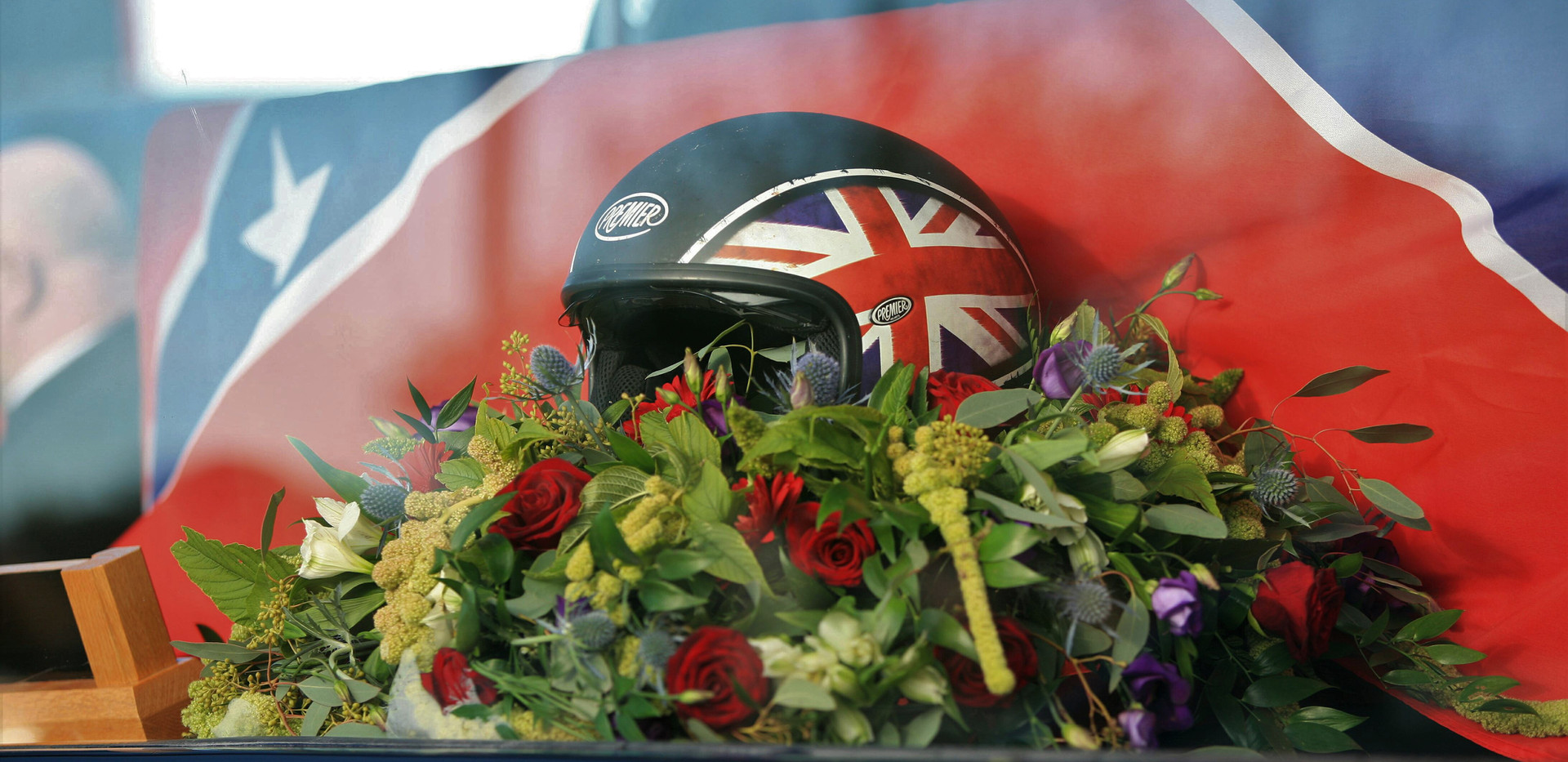 Funeral of the late Dave Peever - His famous floral tribute