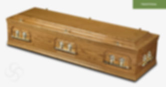 REGENCY Traditional Casket Medium Oak.jp