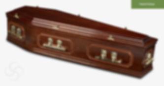 RICHMOND Traditional Coffin Dark Mahogan