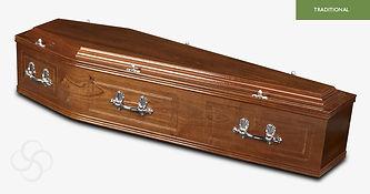 CANTERBURY Traditional Coffin Medium Mah