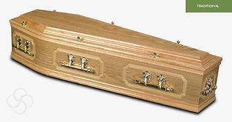 CHATSWORTH Traditional Coffin Light Oak.
