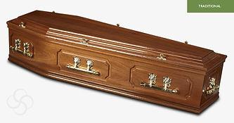 SANDRINGHAM Traditional Coffin Light Mah