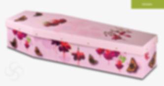 PICTURE CARDBOARD Coffin Fuchsias and Bu