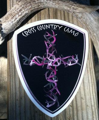6 Inch Pink Hunter's Cross Logo Decal