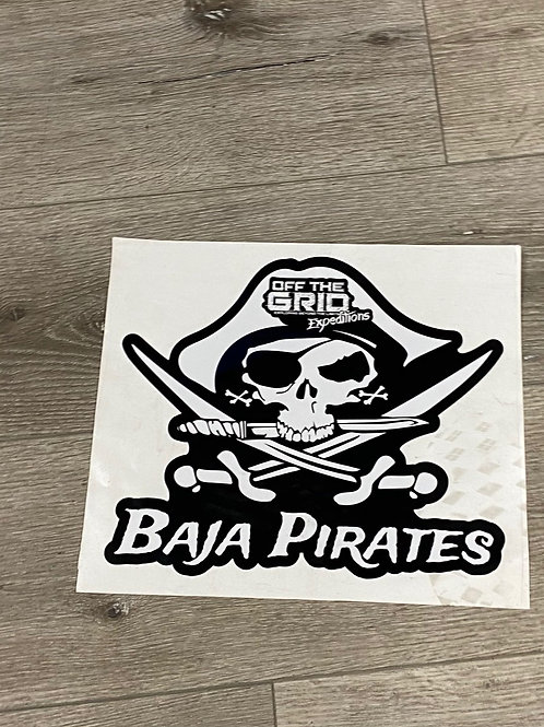 copy of Baja Pirate Sticker Medium