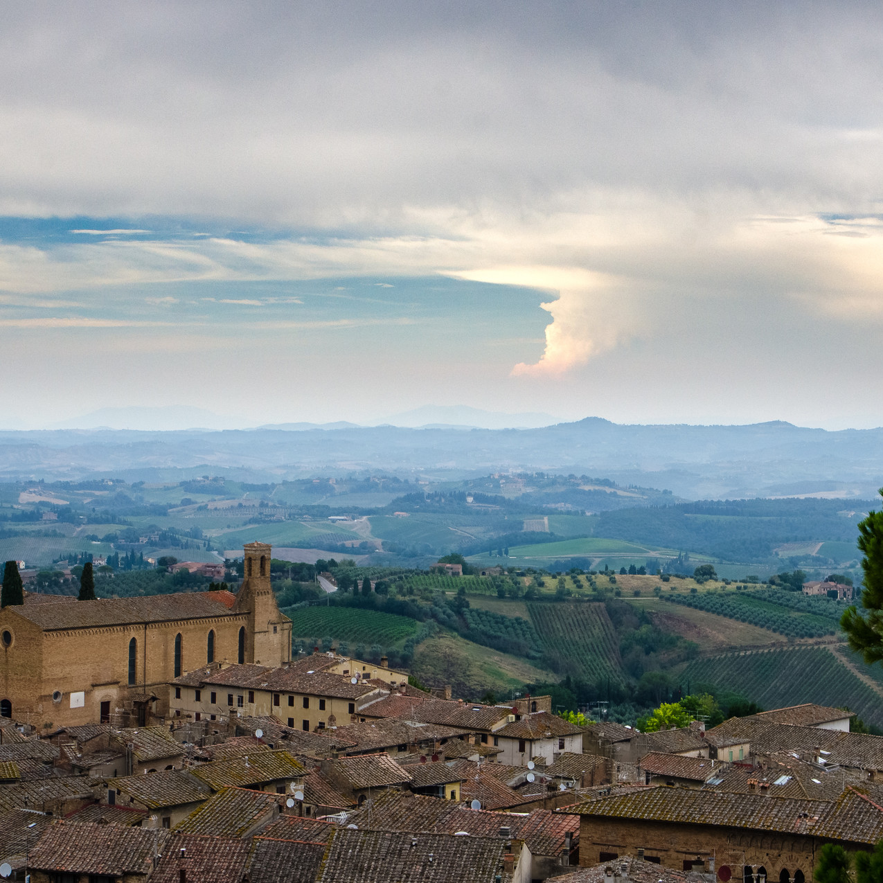 Roofs of San Gimignano.