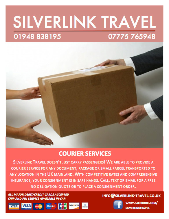 courier services whitchurch, local courier, taxi courier