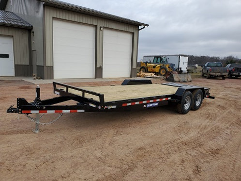 New 2021 Sure-Trac 7' x 17' + 3' Universal Ramp Equipment Trailer