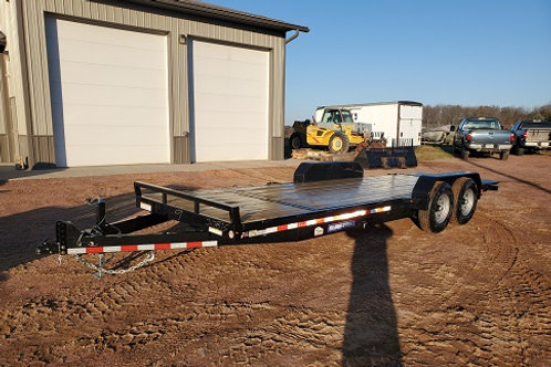 New 2021 Sure-Trac 7' x 18' + 4' Tilt Bed Equipment Trailer