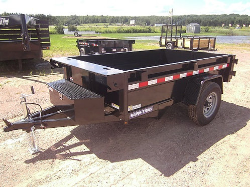 New 2021 Sure-Trac 5' x 8' Dump Trailer