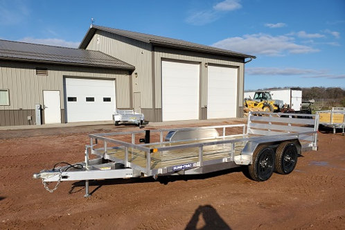 New 2021 Sure-Trac 7' x 16' Aluminum Tube Top Utility Trailer