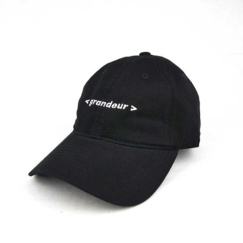 GRANDEUR text logo hat BLACK