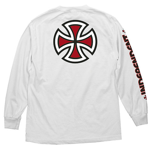 INDY Bar/Cross L/S T-SHIRT WHITE
