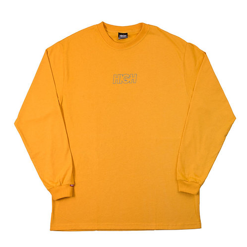 HIGH COMPANY Longsleeve Outline Logo Yellow